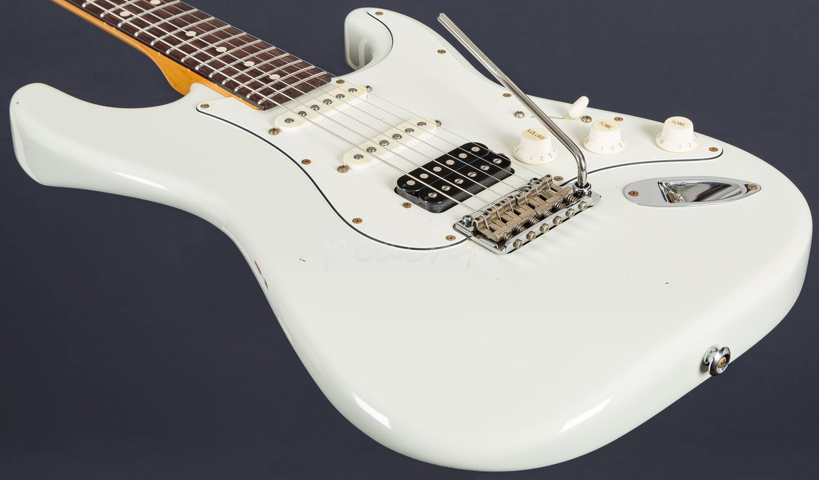 Suhr Classic Antique Olympic White Rosewood Hss Peach