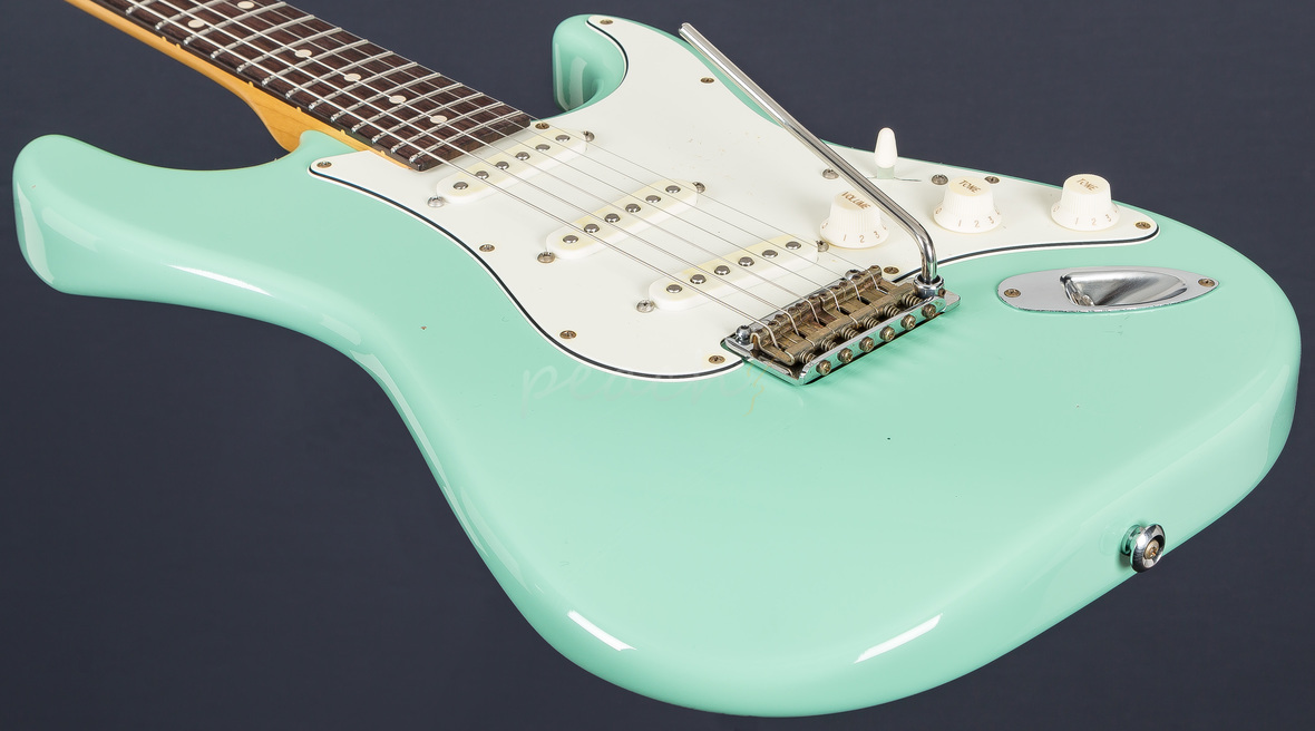 Suhr Classic Antique Surf Green Rosewood Sss Peach Guitars