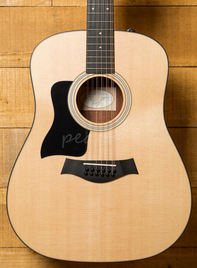 taylor 150e walnut 12 string electro acoustic left handed peach guitars. Black Bedroom Furniture Sets. Home Design Ideas