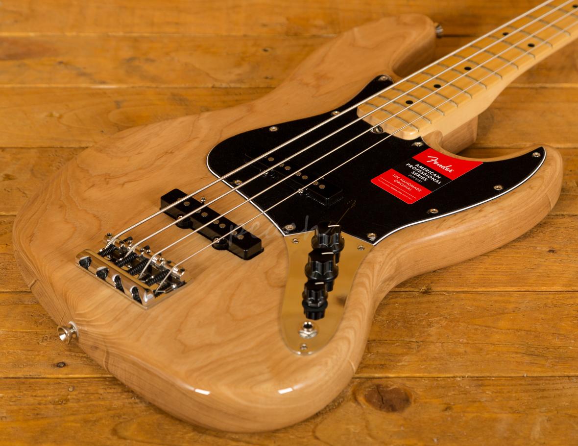 fender american pro jazz bass natural peach guitars. Black Bedroom Furniture Sets. Home Design Ideas