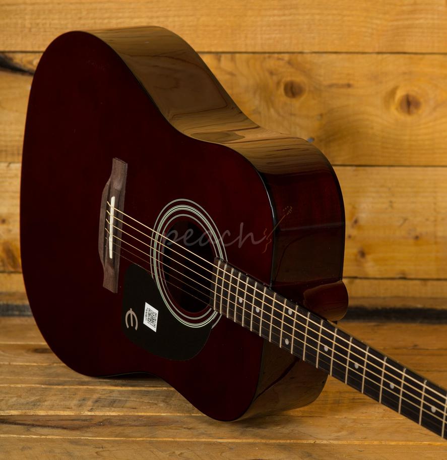 epiphone pro 1 acoustic guitar wine red peach guitars. Black Bedroom Furniture Sets. Home Design Ideas