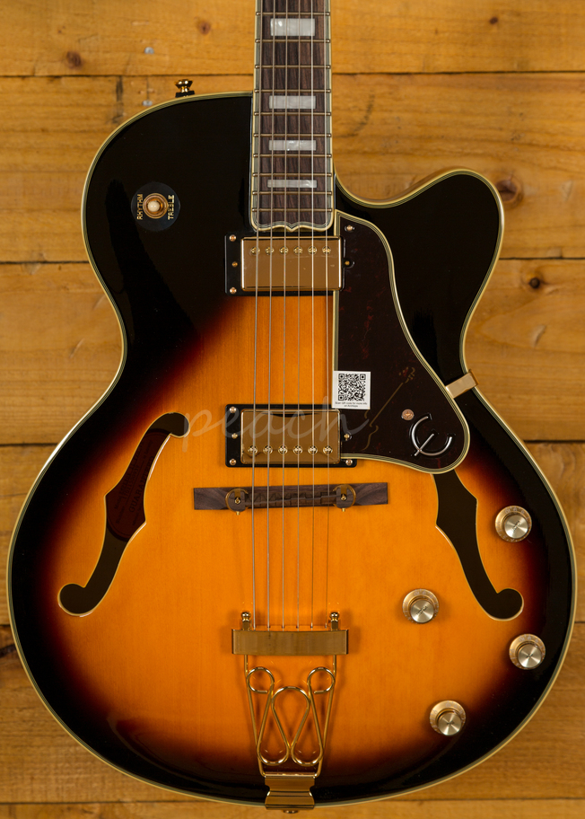Epiphone Quot Joe Pass Quot Emperor Ii Pro Vsb Peach Guitars
