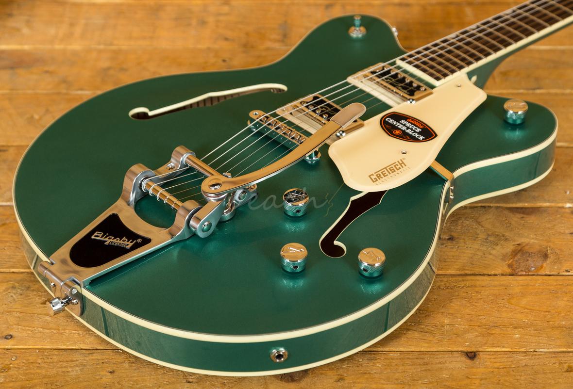 gretsch g5622t electromatic center block georgia green peach guitars. Black Bedroom Furniture Sets. Home Design Ideas