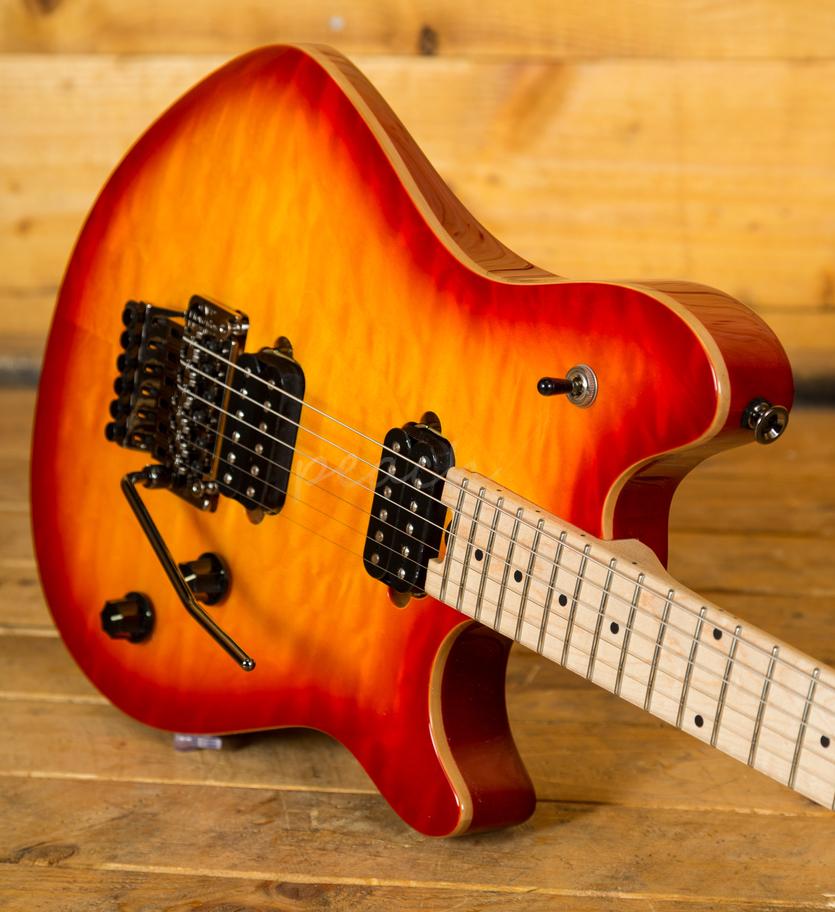 evh wolfgang std maple fb cherry burst peach guitars. Black Bedroom Furniture Sets. Home Design Ideas