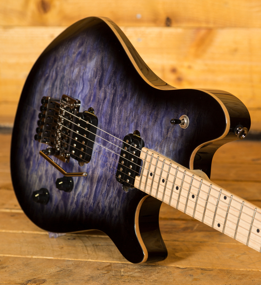 evh wolfgang wg standard quilted maple trans blue burst peach guitars. Black Bedroom Furniture Sets. Home Design Ideas