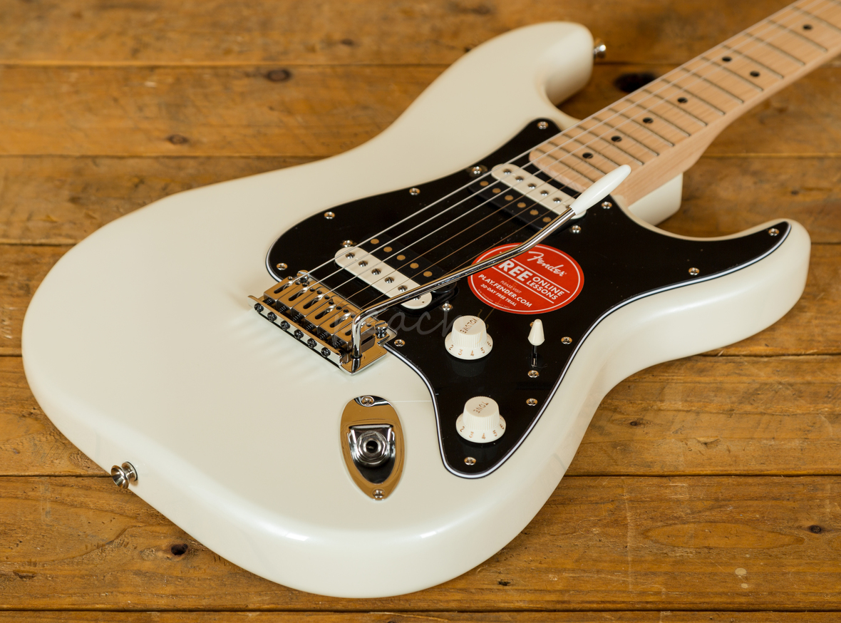 squier contemporary strat hh pearl white peach guitars. Black Bedroom Furniture Sets. Home Design Ideas