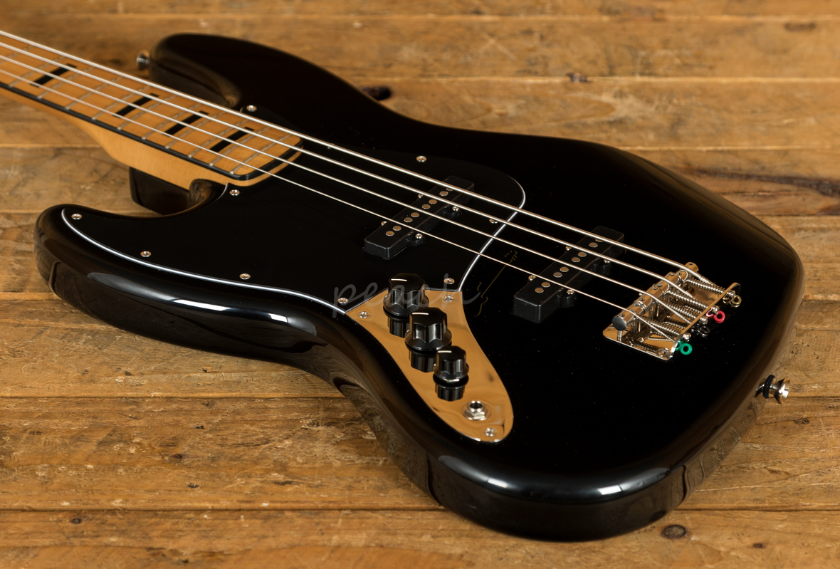 squier classic vibe 70s jazz bass maple neck black lh