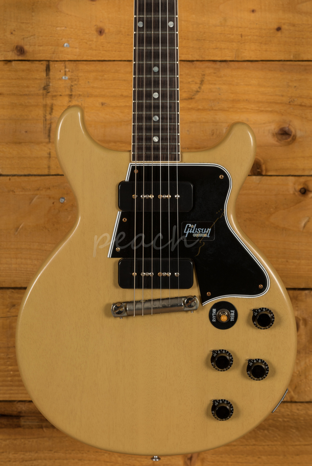 gibson 1960 les paul special double cut reissue vos tv yellow peach guitars. Black Bedroom Furniture Sets. Home Design Ideas