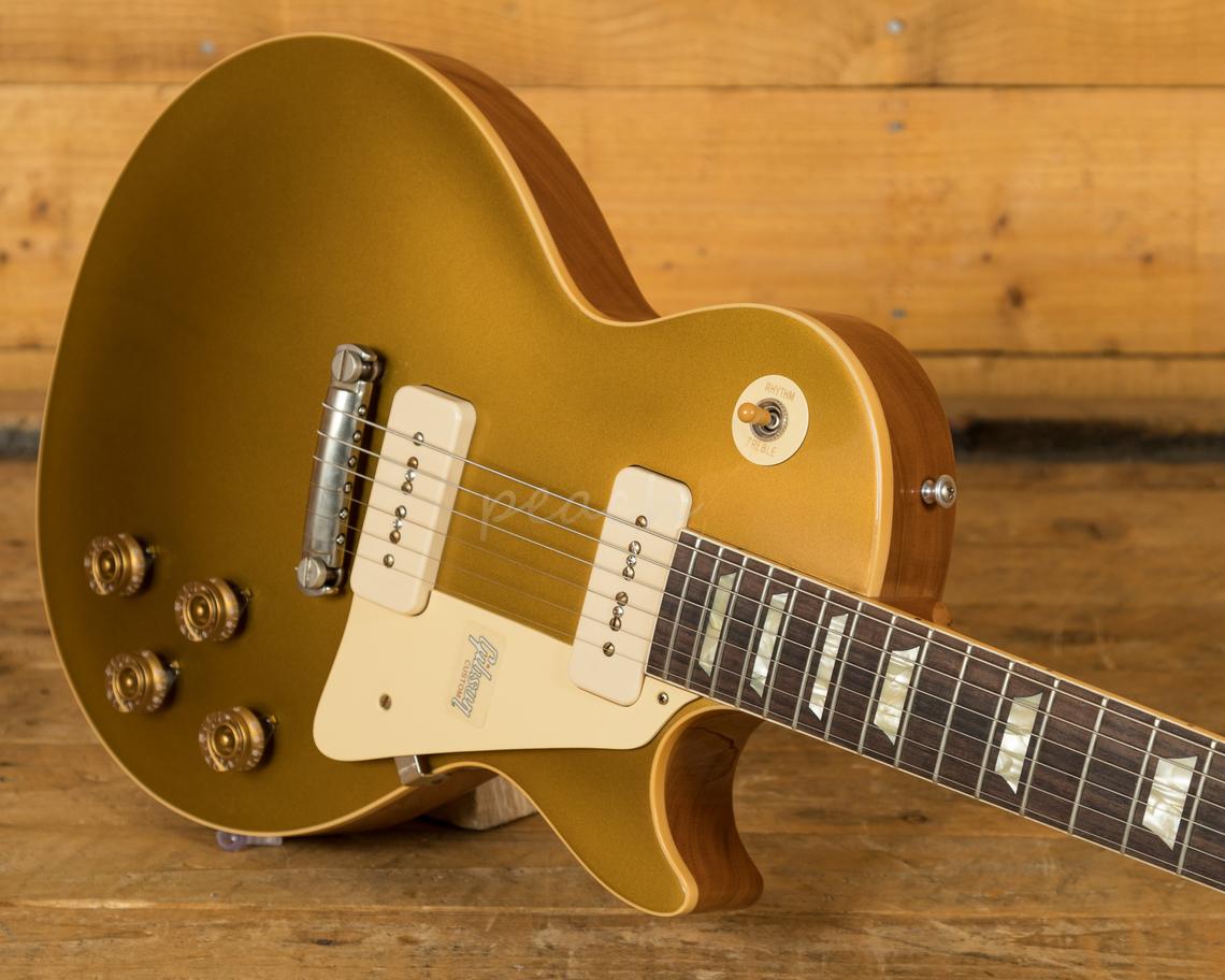gibson custom 1954 les paul goldtop reissue vos peach guitars. Black Bedroom Furniture Sets. Home Design Ideas