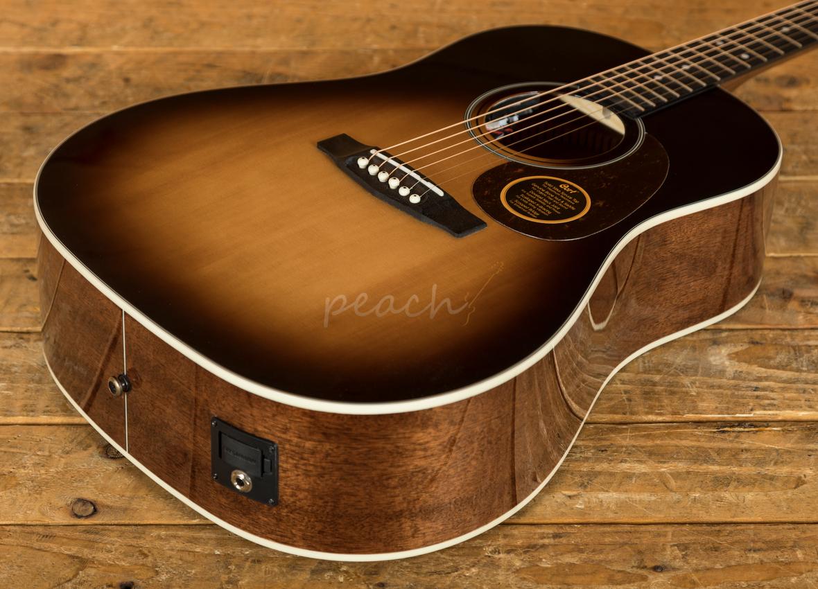 cort earth acoustic 100 ssf sb w fishman peach guitars. Black Bedroom Furniture Sets. Home Design Ideas
