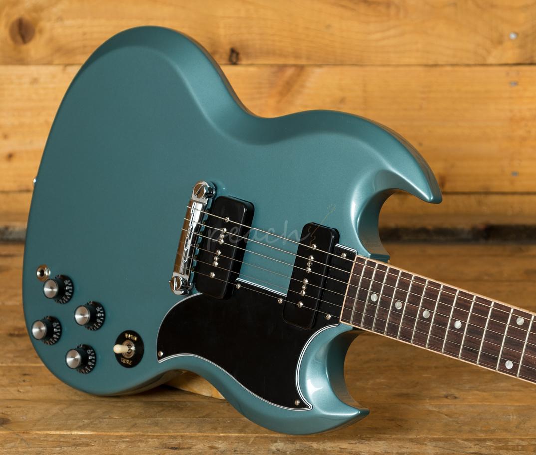gibson sg special faded pelham blue peach guitars. Black Bedroom Furniture Sets. Home Design Ideas