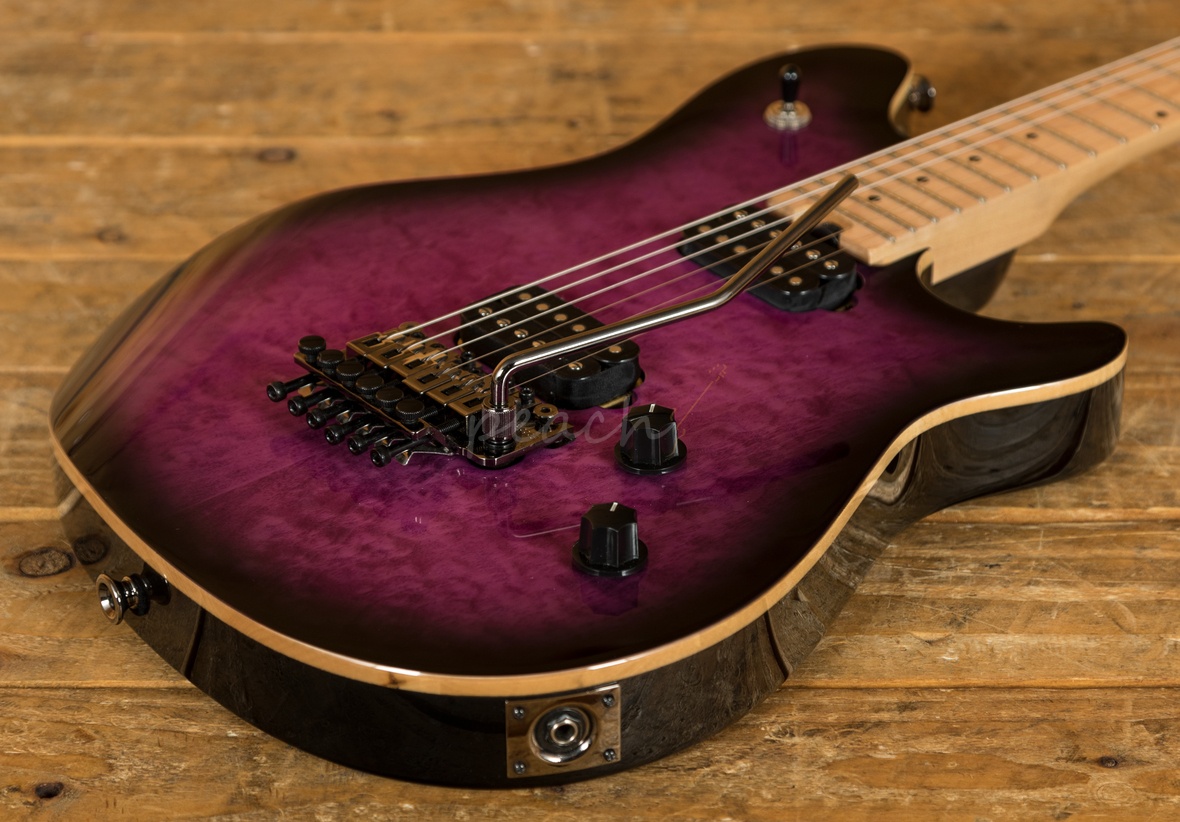 evh wolfgang standard purple used peach guitars. Black Bedroom Furniture Sets. Home Design Ideas