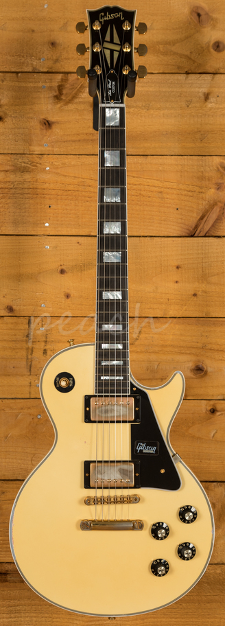 gibson custom m2m 74 les paul custom aged classic white aged peach guitars. Black Bedroom Furniture Sets. Home Design Ideas