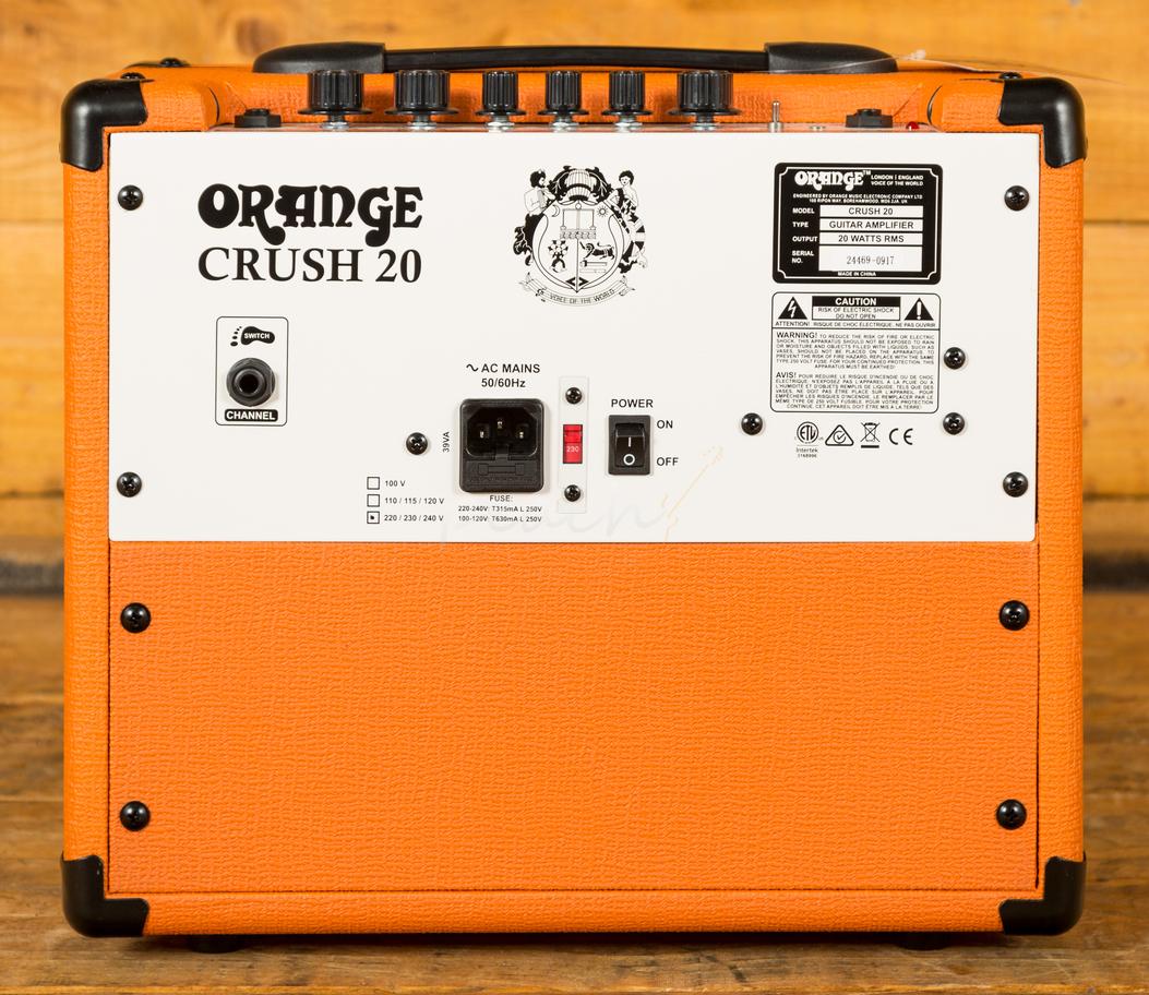 orange crush 20 peach guitars. Black Bedroom Furniture Sets. Home Design Ideas