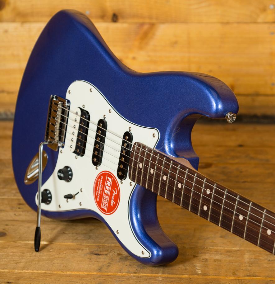 squier contemporary stratocaster hss ocean blue metallic peach guitars. Black Bedroom Furniture Sets. Home Design Ideas