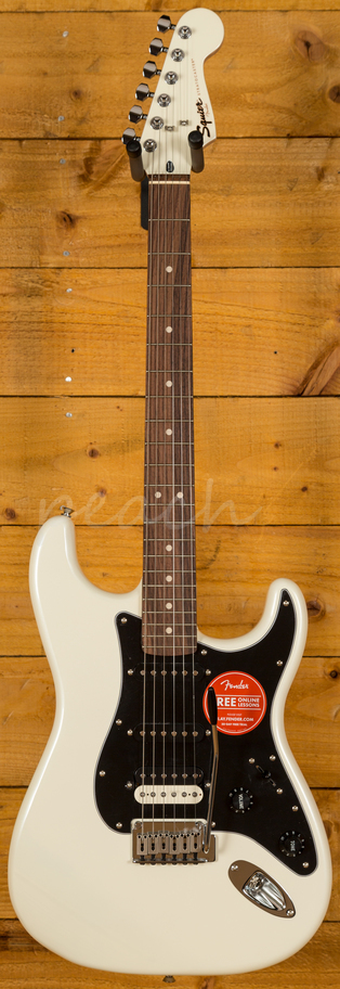 squier contemporary stratocaster hss pearl white peach guitars. Black Bedroom Furniture Sets. Home Design Ideas