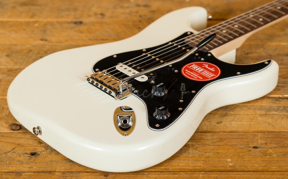 squier contemporary stratocaster hss pearl white peach guitars. Black Bedroom Furniture Sets. Home Design Ideas