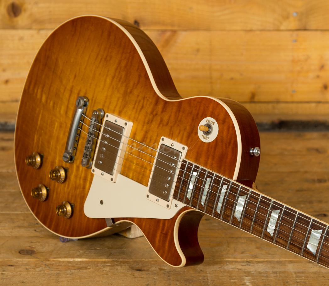 gibson custom 1959 les paul sunrise teaburst 2014 used peach guitars. Black Bedroom Furniture Sets. Home Design Ideas