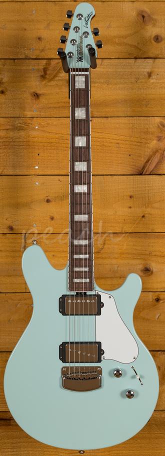 music man valentine guitar bfr baby blue peach guitars. Black Bedroom Furniture Sets. Home Design Ideas
