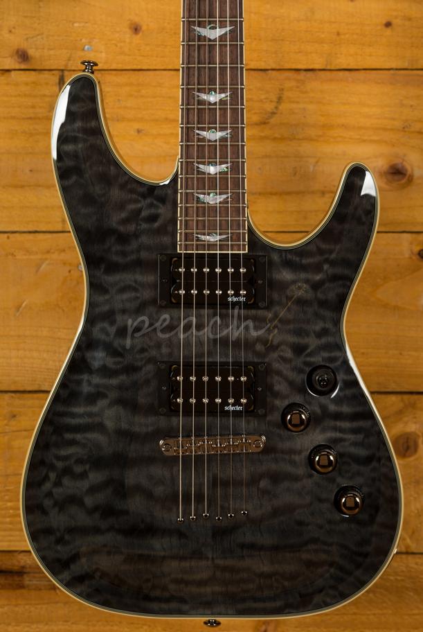 schecter omen extreme 6 see thru black peach guitars. Black Bedroom Furniture Sets. Home Design Ideas