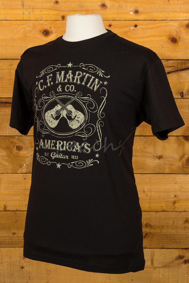 Martin Guitar Shirts : c f martin t shirt dual guitar black peach guitars ~ Vivirlamusica.com Haus und Dekorationen