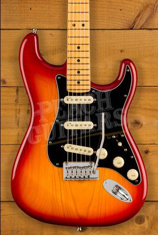 Fender Ultra LUXE Strat Maple Plasma Red Burst