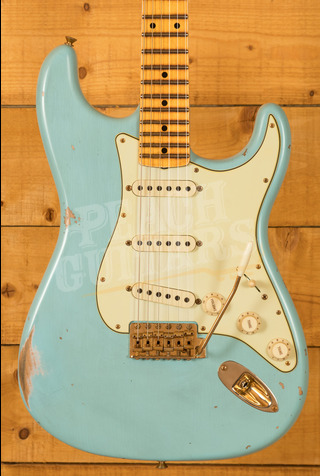 Fender Custom Shop Limited '62 Strat Relic Maple Board Faded/Aged Daphne Blue