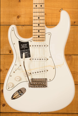 Fender Player Series Strat Left Handed Maple Neck Polar White