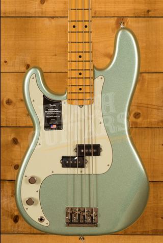 Fender American Professional II Precision Bass Left-Hand Mystic Surf Green Maple