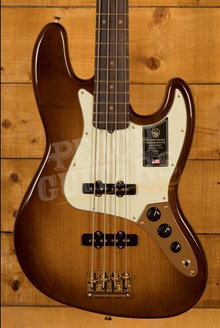 Fender 75th Anniversary Commemorative J Bass 2-Colour Bourbon Burst