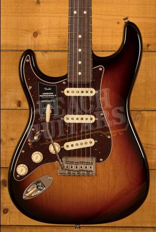 Fender American Professional II Stratocaster Left-Hand 3-Color Sunburst Rosewood