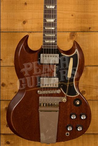 Gibson Custom Murphy Lab 1964 SG Standard Reissue w/ Maestro Vibrola Faded Cherry - Heavy Aged