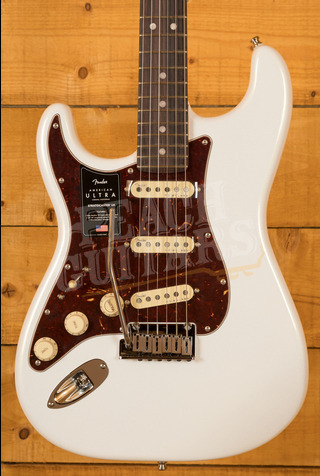 Fender American Ultra Strat LH Rosewood Arctic Pearl