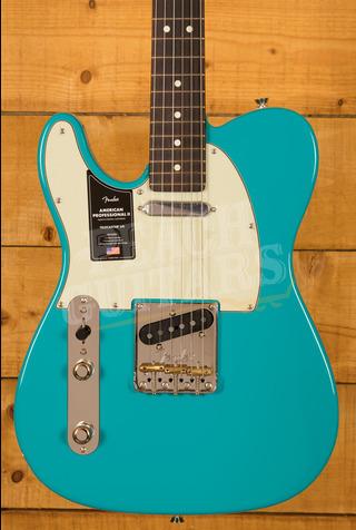 Fender American Professional II Telecaster Left-Hand Miami Blue Rosewood