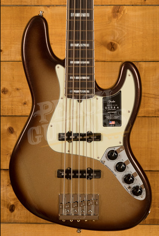 Fender American Ultra Jazz Bass V Rosewood Fingerboard Mocha Burst