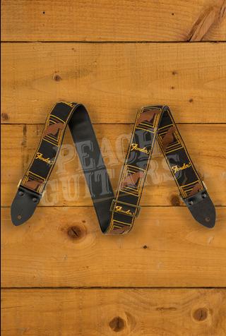 Fender Legacy Mono Strap Black/Yellow/Brown