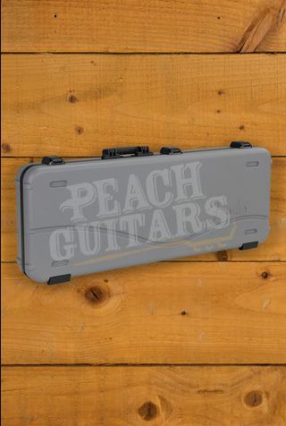 Fender Deluxe Moulded Strat/Tele Case, Silver/Blue
