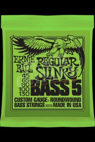 Ernie Ball 5 string Regular Slinky bass set 45-130