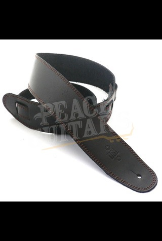 """DSL SGE25-15-2 Leather 2.5"""" Black with Brown Stitching"""