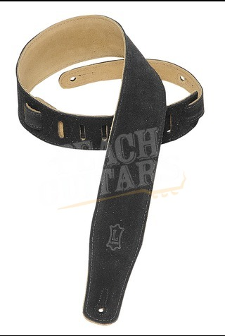 """Levy's 2.5"""" Suede Leather Strap - Black MS26-BLK"""