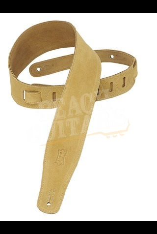 """Levy's 2.5"""" Suede Leather Strap - Tan MS26-TAN"""