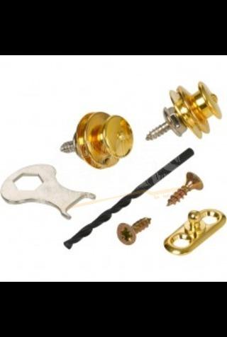 Loxx Nickel Strap Locks Acoustic Gold