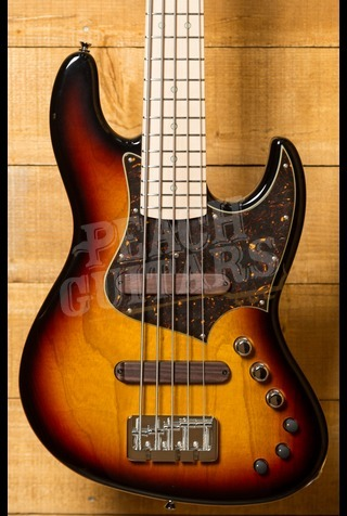 Xotic XJ-1T Lightweight 5-string Bass 3 Tone Burst Maple Neck