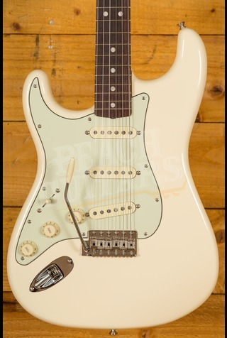 Fender American Original '60s Strat Rosewood Board, Olympic White, Left-Handed