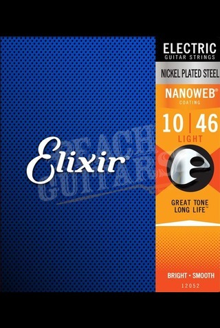 Elixir Electric Nickel Nanoweb Strings - 10-46 (Light)