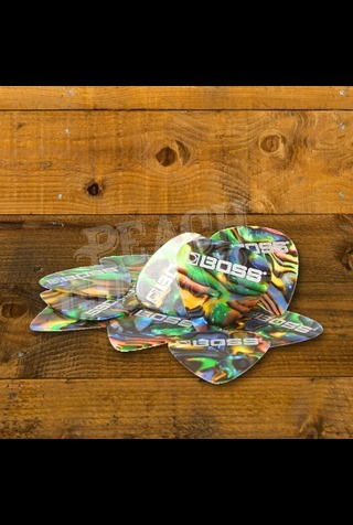 BOSS Celluloid Pick 12 Pack - Abalone