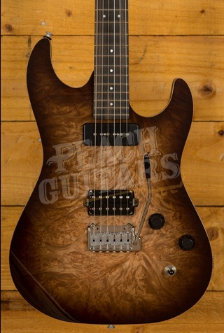Patrick James Eggle 96 Drop Top Burl Maple P90/HB