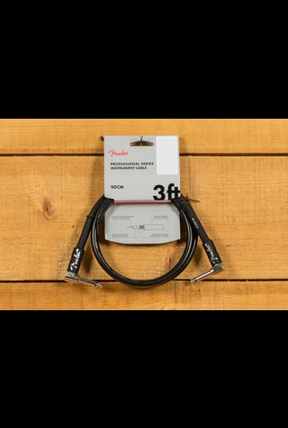 Fender Pro 3' Instrument Cable Black