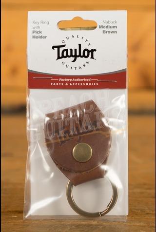 Taylor - Keyring w/Pick Holder, Nubuck Medium Brown
