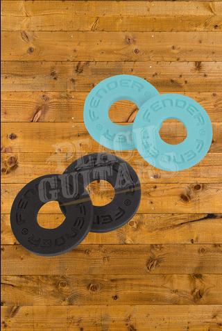 Fender Strap Blocks 4 Pack 2 Black/2 Daphne Blue